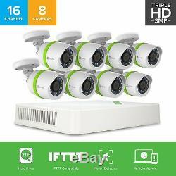 Ezviz Triple Hd 3mp Bd-1g38b2 16ch Dvr 2 To Smart Home System Security Caméras