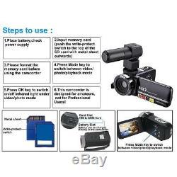 Fhd 1080p 24mp 3.0 LCD 16x Night Vision Caméscope Numérique Caméra DV