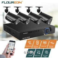 Floureon 8ch 1080p Caméra De Sécurité Dvr 5in1 Vision Nocturne Enregistreur Vidéo Numérique