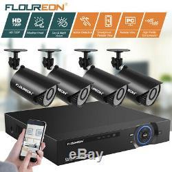 Floureon 8ch Dvr 1080p Caméra De Sécurité 5in1 Enregistreur Vidéo Numérique Vision Nocturne