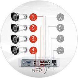 Foscam 8 Canaux Xpoe 4x 720p Caméra De Sécurité Cctv 1tb Hdd Système De Surveillance