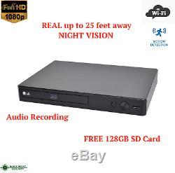 Full Hd Wifi Sans Fil Night Vision Lecteur DVD Espion Caché Nanny Caméra Audio