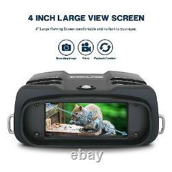 Gogles De Vision Nocturne Binoculaire Avec LCD 3.6-10.8x Zoom Caméra Vidéo Enregistreur 64g