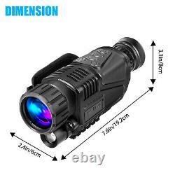 Hd 5x40 Infrared Night Vision Caméra Vidéo De Chasse Au Télescope Monoculaire Numérique