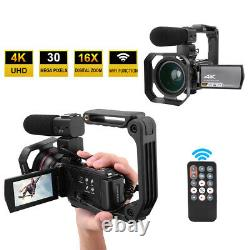 Hdr-ae8 4k Hd 16x Wifi Caméra Vidéo Numérique Night Vision Caméscope Fg