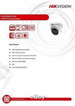 Hikvision 5mp Cctv Système Motorisé Varifocale Caméra Tourelle 40m Vision Nocturne Royaume-uni