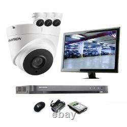 Hikvision 5mp Cctv Système Uhd 4k Dvr 4ch 8ch Exir 40m Night Vision Camera Kit Uk