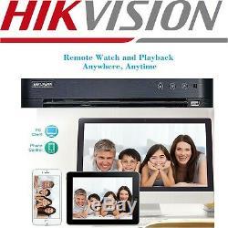 Hikvision Cctv Dvr 4k 5mp Colorvu Caméra Dôme Ds-2ce72hft-f Ip67 20m Système Uk
