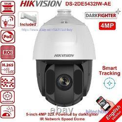 Hikvision Darkfighter 4mp 32x Zoom Speed Ptz Ds-2de5432iw-ae Caméra Smart-track