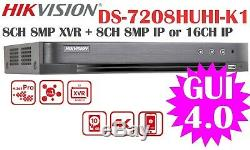Hikvision Ds Originale-7208huhi-k1 8ch Hd Xvr / Dvr 8mptvi / 5mpahd / 4mpcvi H. 265pro