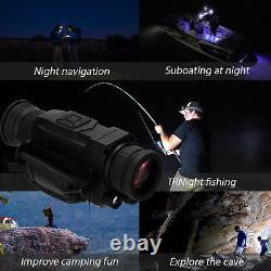 Ir Infrarouge Vision Nocturne Périphérique Portée Hd Appareil Photo Numérique Monoculaire Extérieur P4k3