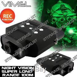 Jumelles De Vision Nocturne Lunettes De Chasse Monoculaires Dvr De Sécurité D'appareil-photo De Digital Nv