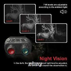 Jumelles Lunettes De Vision Nocturne Avec Écran Lcd, Appareil Photo Numérique Infrarouge (ir)