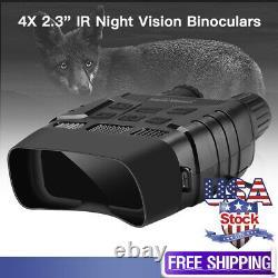 Jumelles Vision Nocturne 300 Yards Digital Ir Telescope 4x Zoom Optics Avec 2.3