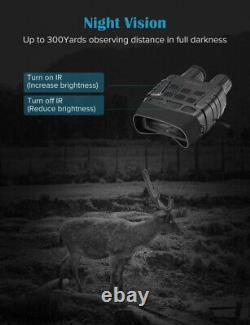 Jumelles Vision Nocturne 300 Yards Digital Ir Telescope Photos Enregistrement Vidéo