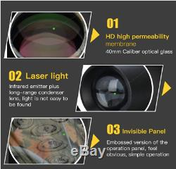 Kit De Vision Nocturne, Infrarouge Numérique Télescope Monoculaire Portable Avec E