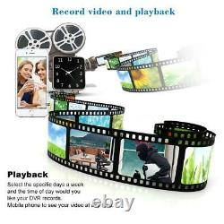 Kkmoon 16ch 1080p 5in1 Ahd Nvr Dvr 720p Kit Extérieur De Caméra De Sécurité Cctv