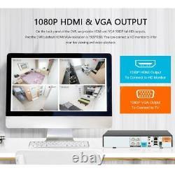 Kkmoon H. 265+ 4ch 1080p Dvr 5in1 Cctv 720p Système De Caméra De Sécurité Extérieure