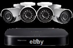 Lorex 1080p Hd 8-channel 1tb Smart Home Security System Et 4 Caméras À L'intérieur Et À L'extérieur