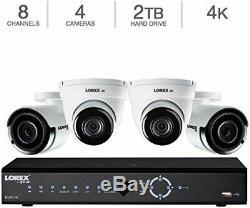 Lorex Lnk782c2d2kb 4k Ultra Hd 8 Canaux Poe Ip Nvr Système Caméra De Sécurité Avec