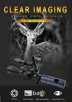 Lunette De Vision Nocturne Portée Rifle Appareil Photo Numérique Avec La Torche Ir Nouveau Système Infrarouge Led