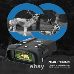 Lunettes De Vision Nocturne Jumelles 1080p 3.6-10.8x 4 LCD Infrarouge Nvg Avec Carte 64g
