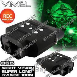 Lunettes De Vision Nocturne Jumelles Monoculaires Chasse Digital Nv Security 8gb