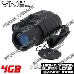 Lunettes Monoculaires De Vision Nocturne D'appareil Photo Numériques Chassant La Sécurité 4g Binoculaire De Nv