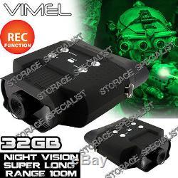 Lunettes Monoculaires De Vision Nocturne Jumelles D'appareil Photo Numérique Chassant La Sécurité 32g De Nv