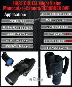 Master Digital Nv Lunettes De Vision Nocturne Monoculaires Caméra De Sécurité Ir Gen Tracker
