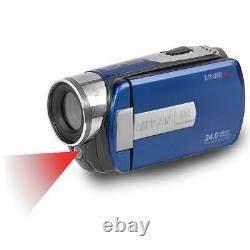 Minolta Mn80nv 1080p Caméscope Écran Tactile Full Hd 3 Avec Vision Nocturne, Bleu