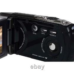 Minolta Mn80nv Full Hd 3 Caméscope Avec Écran Tactile Nightvision, Noir
