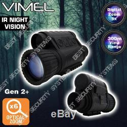 Monoculaire De Vision Nocturne De Chasse Lunettes De Sécurité Appareil Photo Numérique Binocular Recorde