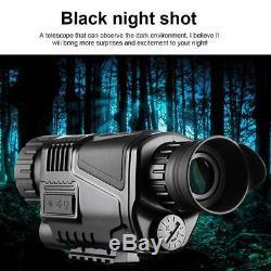 Monoculaire De Vision Nocturne Infrarouge DCV 3.7m 200m 5x40mm Avec Télescope Numérique