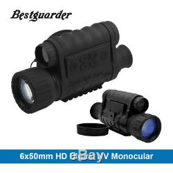 Monoculaire Nocturna Numérique De Vision Nocturne Ir Faune 6x50mm 5mp Hd