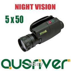 Monoculaire Noir De Vision Nocturne Tout Neuf De Digital 5x50 Pour La Navigation De Plaisance