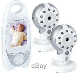 Motorola Mbp30 2 Multicam Twin Digital Video Baby Monitor Caméra De Vision Nocturne