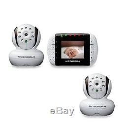 Motorola Mbp33 / 2 Vidéo Sans Fil Baby Monitor Avec Vision Nocturne Infrarouge Et Zoom