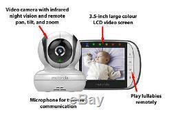 Motorola Mbp36s Moniteur Vidéo Pour Bébé Moniteur Night Vision 3.5 LCD Couleur