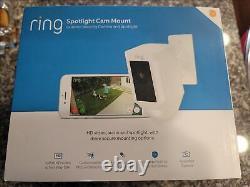 New Ring Spotlight Cam Mount Hard Câblé 1080p Wi-fi Caméra De Sécurité En Hand