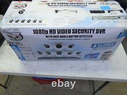 Night Owl 1080p Hd Dvr Avec Détection De Chaleur 8ch Et 8 Caméras De Sécurité C-881-pir1080