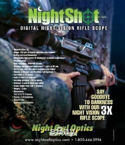 Night Owl Nightshot Vision Nocturne Portée De Fusil Avec Accessoires Ir