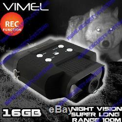 Night Vision Jumelles Monoculaires Jeu Enregistreur Caméra 16go Lunettes Digital Nv