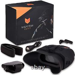 Nightfox Swift Night Vision Lunettes Infrarouge Numérique 1x Magnification 75yd Gamme