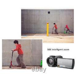 Noir Hdr-ae8 4k Hd 3.0 Écran Tactile Wifi 16x Vidéo Numérique Caméra De Vision Nocturne