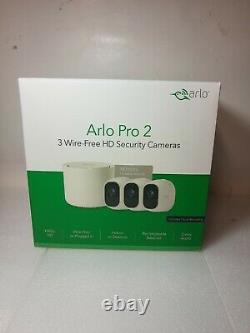 Nouveau Système De Caméras De Sécurité Arlo Pro 2 Bundle Indoor/outdoor Hd 1080p 3 Caméra