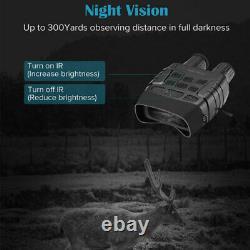 Numérique De Vision Nocturne Infrarouge De Chasse Jumelles Portée Ir Caméra Vidéo Cam + 32go