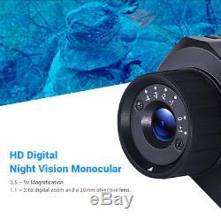 Numérique Night Vision Binocular Avec 8 Go Dvr Portée Pour La Chasse Scoutisme Jeu