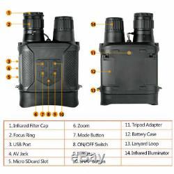 Numérique Nv400b Infrarouge Hd Night Vision Hunting Binocular Scopes Caméra Vidéo