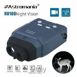 Nv100 Infrarouge Ir De Vision Nocturne Caméra Vidéo Numérique Monoculaire + 8 Go Carte Sd